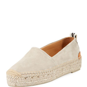 Rag & Bone Adria Printed Slip-On Espadrille Flat, Off White