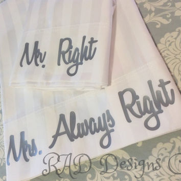 Custom pillowcases perfect for wedding anniversary gift  can be customized with any saying you like!