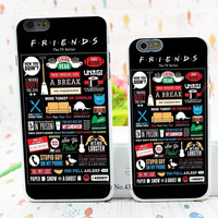 FRIENDS FUNNY TV SHOW LOGO NOVELTY Style Hard White Cover Skin Back Case for iPhone 6 6s 6 plus