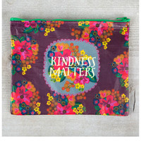 Natural Life Recycled Zipper Bag - Kindness
