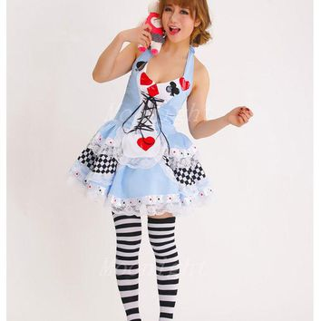 DCCKHY9 MOONIGHT Plus Size New Sexy Queen of Hearts halloween Co  sc 1 st  wanelo.co & Best Alice In Wonderland Blue Dress Products on Wanelo