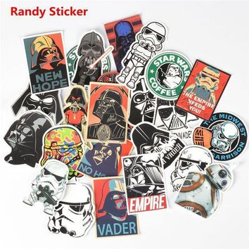 ICIK7Q Star Wars 25 kinds waterpoof creative sticker for Skateboard Laptop Luggage Fridge Phone toy Styling home doodle Sticker