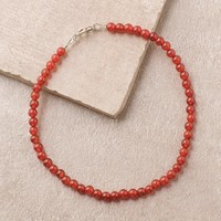 High-Energy Carnelian Anklet