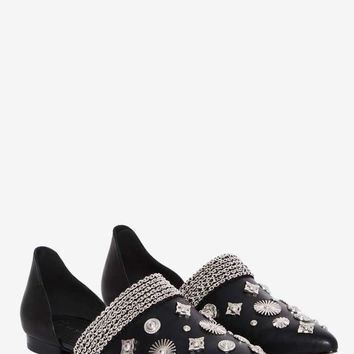 EEight Denzel Embellished Leather Flat