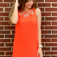 When Worlds Collide Dress - Orange