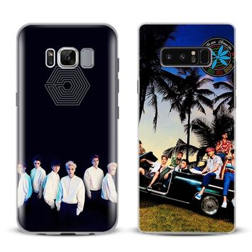 EXO Kpop Boy group Phone Case Cover Shell For Samsung Galaxy S4 S5 S6 S7 Edge S8 s9 Plus Note 8 2 3 4 5 A5 A7 J5 2016 J7 2017