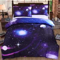 3D bedding Star war bedding sets Galaxy Sky Bed Set Outer Space Bed Linens 3pcs/4pcs Twin/Queen Size 3D Printed Duvet Cover set