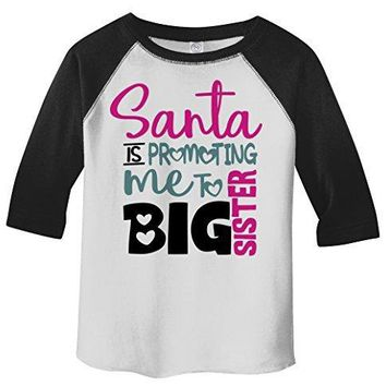 Shirts By Sarah Toddler Santa Promoting Big Sister Christmas T-Shirt Baby Reveal