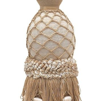 """Lavish Ivory, Light Beige Curtain & Drapery Tassel Tieback / 11"""" tassel, 34"""" Spread (embrace), 7/16"""" Cord, Imperial II Collection Style# TBIL-1 Color: WHITE SANDS - 4001"""