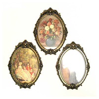 Ornate Oval Frames Italy Victorian wall decor by EphemeraAndMore