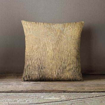 Gold Pattern Decorative Pillow Cover