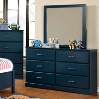 Transitional Style Wooden Dresser, Blue