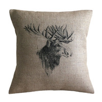 Vintage Moose Cushion