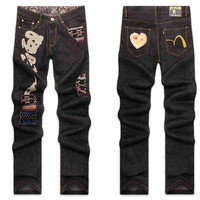 Winter Weathered Men Pants Fashion Stylish Jeans [6528535235]
