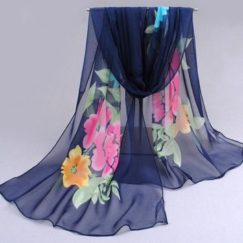 Ultralarge 2017 new chiffon silk scarf women's spring and autumn accessories polyester scarf autumn and winter thermal scarf FGH