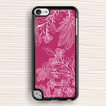 pink floral ipod case,pink flower ipod 4 case,art flower ipod 5 case,girl's touch 4 case,floral touch 5 case,pink flower ipod touch 4 case,new design ipod touch 5 case
