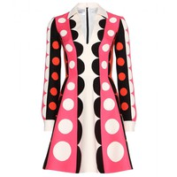valentino - printed wool and silk dress