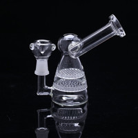 mini Hot Sale Water Pipe glass bongs double honeycomb in hooks only 120mm height  .