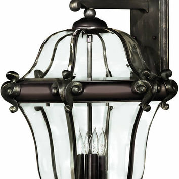 "0-034259>28""h San Clemente 4-Light Extra-Large Outdoor Wall Lantern Copper Bronze"