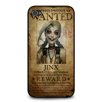 League of Legend Jinx wanted iPhone 4/4s Case