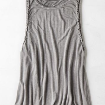 AEO Women's Soft & Sexy Braided Muscle Tank