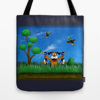 Duck Hunt Tote Bag by Likelikes