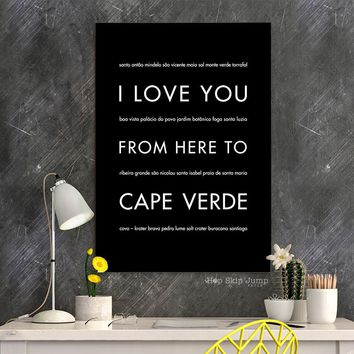 CAPE VERDE Travel Art Poster | Gift Idea | HopSkipJumpPaper