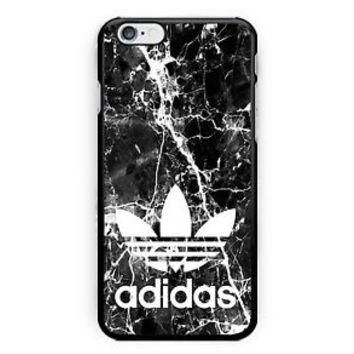 Cheap Best New Adidas Black Marble Hard Case Cover for iPhone 7+ 7 6s Plus 6/6s
