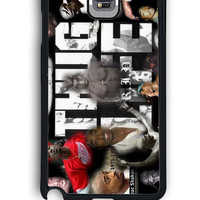 Samsung Galaxy Note 4 Case - Rubber (TPU) Cover with 2pac tupac THUG LIVE Design