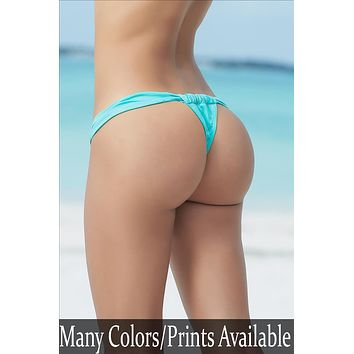 Micro Adjustable Front Thong Bottom G-String Bikini Swimwear Separates