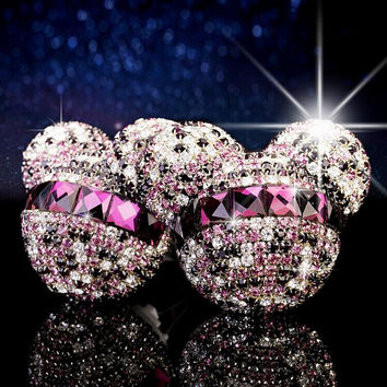 Glitterati Crystal Mickey Minnie Car Air Freshener