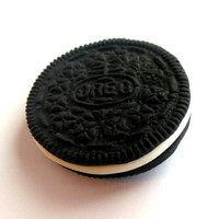 polymer clay oreo cookie magnet
