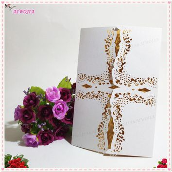 2017 30Pcs/pack Personalized Custom Romantic Wedding Party Invitation Card for Wedding/Business/Party/Birthday 9ZSH212