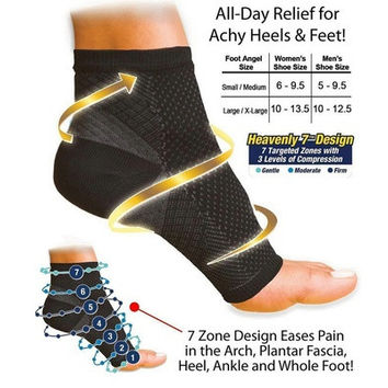 1pc Foot Ankle Compression Socks Anti Fatigue Varicose Feet Sleeve(1.S/M 2.L/XL) [9305844039]