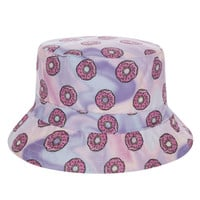 The Simpsons Odd Future Donuts Adult Unisex Purple & Pink Casual Summer Beach Flat Bucket Hat