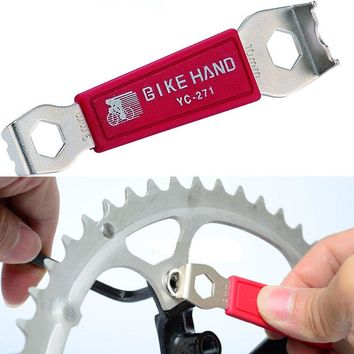 bicycle repair tool chain Nut Wrench Crankset Chain ring Nut Wrench  For bike Slotted Chain ring Nuts/crank cover wrench