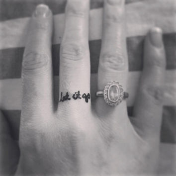 Temporary Tattoo | Let it go | Tattoo Art | Ring Tattoo | Finger Tattoo | Yoga Tattoo | Tattoo | Mini Tattoo | handmade by misssfaith
