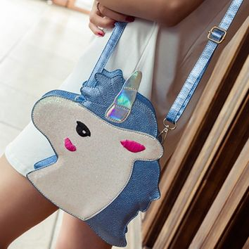 Purses - Unicorn Dreams Crossbody Bag in Blue