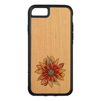 flower carved iPhone 7 case