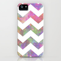 Tiedye Chevron #3 iPhone & iPod Case by lilacattack