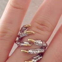 Claw Wrap Ring - Silver | SABO SKIRT