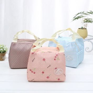New Fashion Portable Insulated Canvas lunch Bag Thermal Food Picnic Lunch Bags for Women kids Men Cooler Lunch Box Bag