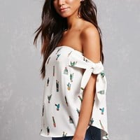 Cactus Off-the-Shoulder Top