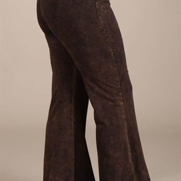 Plus Size Mineral Wash Bell Bottoms