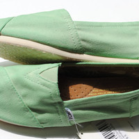Custom Hand Painted TOMS in Mint Green by PaperHeartsCouncil