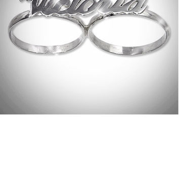 Personalized Double Finger Ring