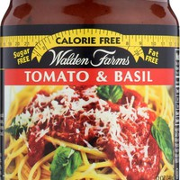 WALDEN FARMS: Calorie Free Pasta Sauce Tomato and Basil, 12 oz