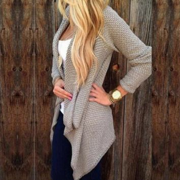 Women's Irregular Cardigan Sweater