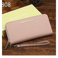 Ms. MK Michael Kros handbag long single zipper wallet Pink