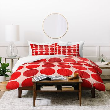 Garima Dhawan Colorplay Red Duvet Cover